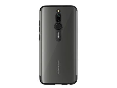 Силиконов калъф с лайстна CLEAR за Xiaomi Redmi 8, Черен
