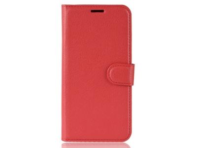 Калъф Тефтер Litchi за Xiaomi Redmi 8A , Червен