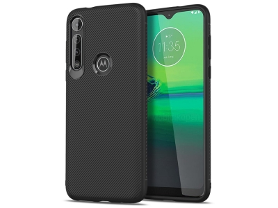 Силиконов гръб Twill за Motorola Moto G8 Play/One Macro, Черен