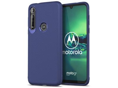 Силиконов гръб Twill за Motorola Moto G8 Plus, Син