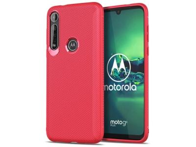 Силиконов гръб Twill за Motorola Moto G8 Plus, Червен