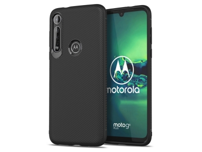 Силиконов гръб Twill за Motorola Moto G8 Plus, Черен