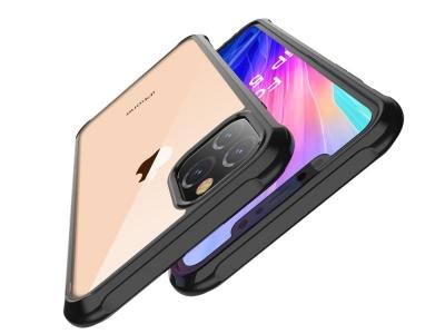 Удароустойчив Гръб LEEU DESIGN за iPhone 11 6.1 inch (2019), Черен/ Прозрачен