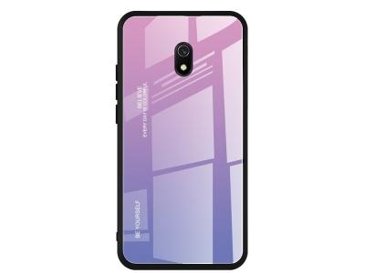 Стъклен Гръб Glass за Xiaomi Redmi 8A, Розов/ Лилав