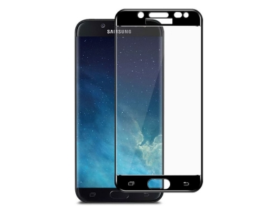Стъклен Протектор Full Glue за Samsung Galaxy J5 (2017), Черен