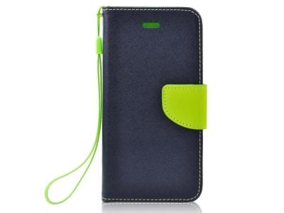 Калъф Тефтер Fancy Book за Huawei P30 , Тъмно син/ Зелен