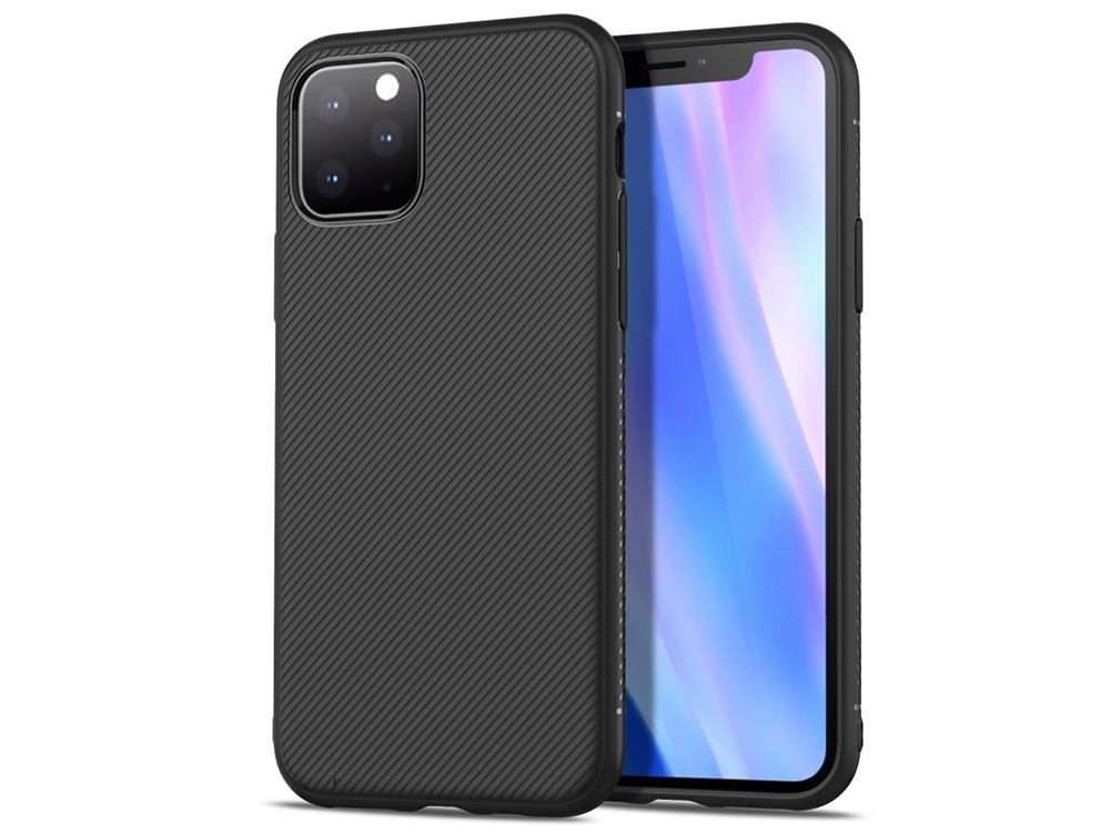 Силиконов гръб Twill Texture за Iphone 11 Pro Max , Черен