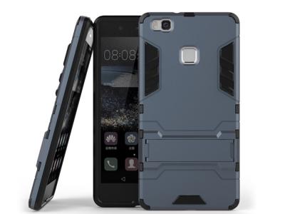 Удароустойчив гръб с Поставка за Huawei P9 lite, Син