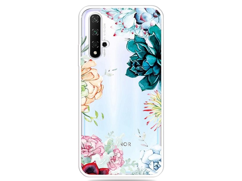 Силиконов Гръб за Huawei Honor 20 / Nova 5T / Honor 20s, Красиви цветя