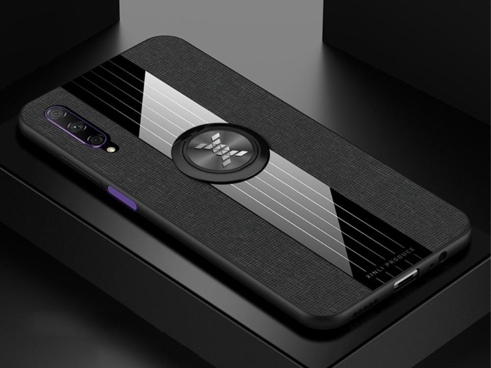Удароустойчив гръб с Поставка за Huawei P Smart Pro (2019) / Huawei Y9s / Honor 9X Pro, Черен