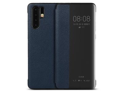 Калъф тефтер View Cover (ест. кожа) - Huawei P30 Pro - Blue