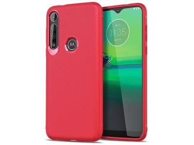 Силиконов гръб Twill Texture за Motorola Moto G8 Play/One Macro, Червен