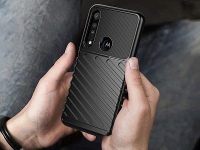 Силиконов гръб Twill Skin за Motorola Moto G8 Play/One Macro, Черен