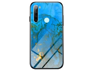 Калъф Гръб Glass - Xiaomi Redmi Note 8 - Blue/Gold