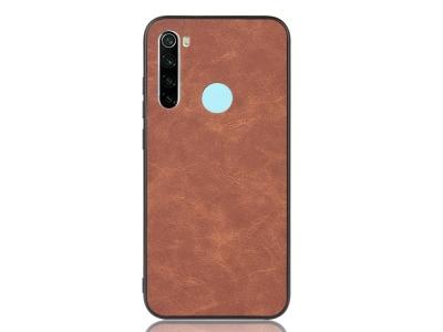 Силиконов гръб Leather за Xiaomi Redmi Note 8, Кафяв