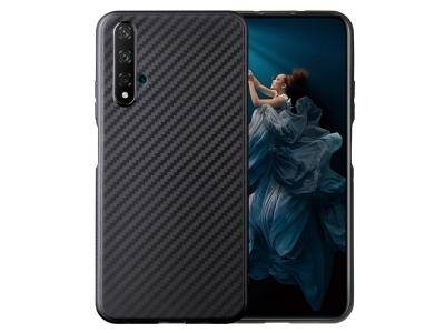 Силиконов гръб Carbon Fibre за Huawei Honor 20S / Honor 20 / nova 5T, Черен