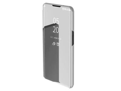 Калъф Тефтер View Window Mirror за Xiaomi Redmi Note 8 Pro, Сребрист