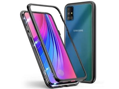 360 Алуминиев магнитен бъмпер за Samsung Galaxy A51 (2019), Черен