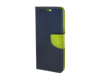 Калъф Тефтер Fancy за Samsung Galaxy A51 (2019), Син/ Зелен