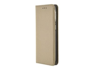 Калъф тефтер Smart Book за LG Q60, Златист