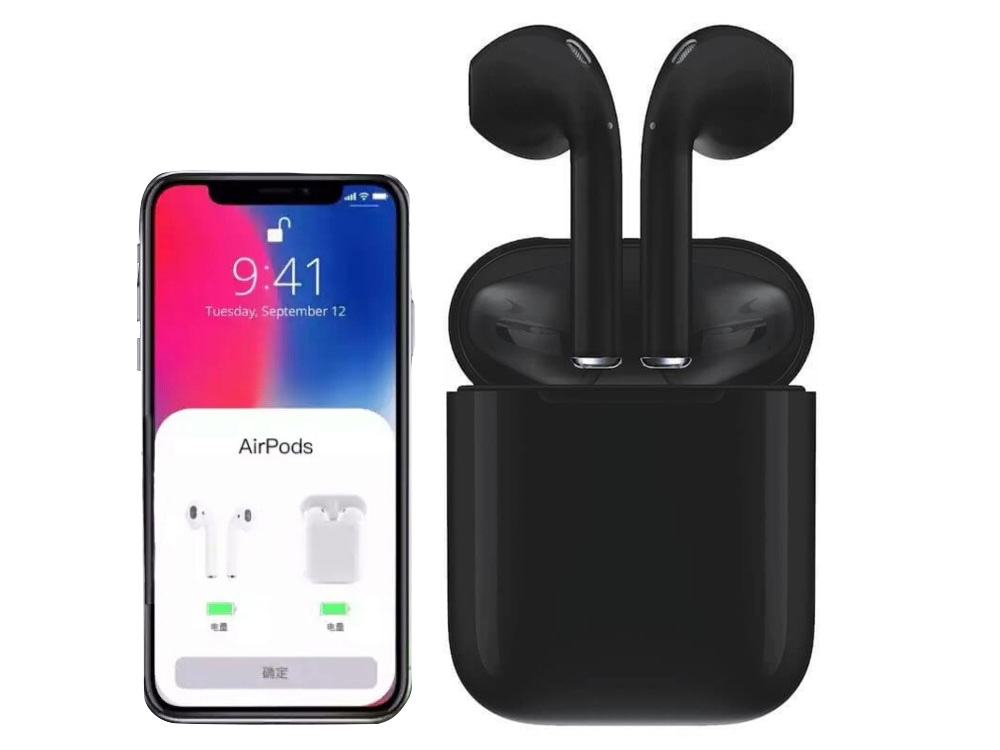 Слушалки TWS Macaron Bluetooth 5.0 Pop Up Toch Charging Box , Черен