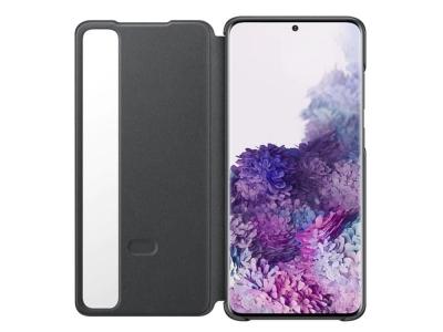Оригинален Калъф Тефтер Clear S - View за Samsung Galaxy S20 Plus, Черен
