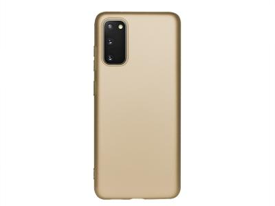 Силиконов Гръб Level - Samsung Galaxy S20 - Gold