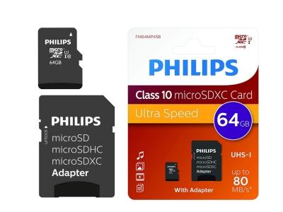 PHILIPS MICRO SDHC 64GB CLASS 10