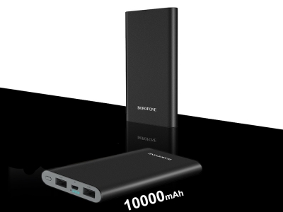 Универсална Външна Батерия Borofone BT19, 10 000mAh, Черен