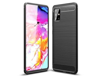 Силиконов гръб Carbon за Samsung Galaxy A51, Черен