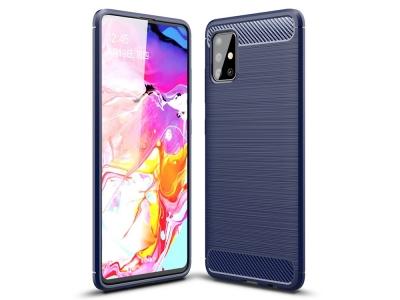 Силиконов гръб Carbon за Samsung Galaxy A51 , Син