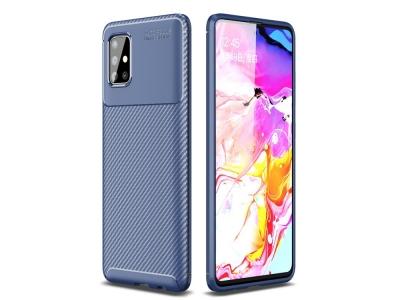 Силиконов Гръб Beetle Carbon за Samsung Galaxy A51, Син