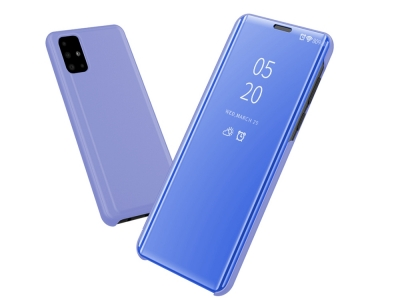 Калъф Тефтер View Window за Samsung Galaxy A51, Светло син