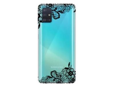 Силиконов Гръб за Samsung Galaxy A51 , Дантелени цветя