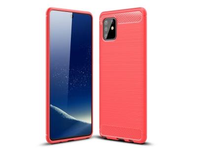 Силиконов гръб Carbon за Samsung Galaxy A81 / Note 10 Lite, Червен