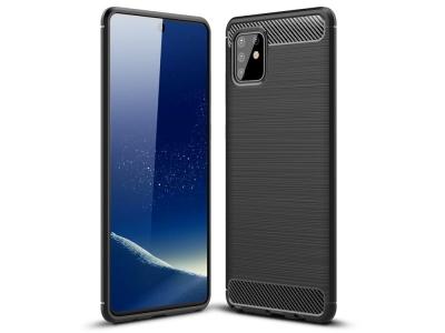 Силиконов гръб Carbon за Samsung Galaxy A81 / Note 10 Lite, Черен