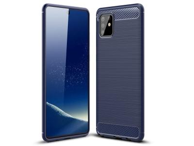 Силиконов гръб Carbon за Samsung Galaxy A81 / Note 10 Lite , Син