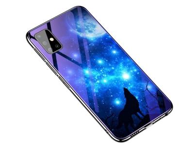 Стъклен гръб Glass Blue-ray за Samsung Galaxy A51, Вълк