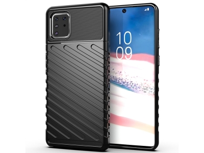 Силиконов Гръб Thunder за Samsung Galaxy A81/Note 10 Lite, Черен
