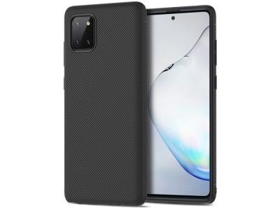 Силиконов Гръб Twill за Samsung Galaxy A81/Note 10 Lite/M60S, Черен