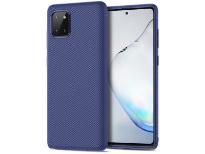 Силиконов Гръб Twill Texture за Samsung Galaxy A81/Note 10 Lite/M60S, Син