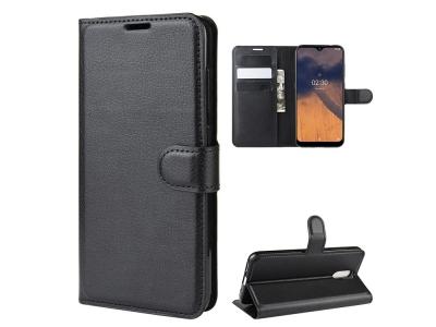 Калъф Тефтер Litchi за Nokia 2.3, Черен