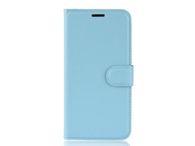 Калъф Тефтер Litchi за Nokia 2.3, Светло син