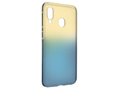 Силиконов гръб OMBRE - Samsung Galaxy A20e  - Gold / Blue