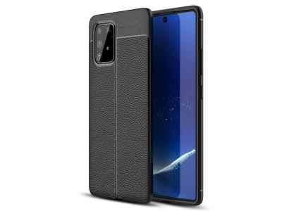 Силиконов гръб Litchi - Samsung Galaxy A91/S10 Lite - Black