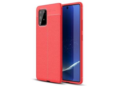 Силиконов гръб Litchi - Samsung Galaxy A91/S10 Lite - Red