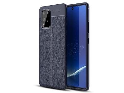 Силиконов гръб Litchi - Samsung Galaxy A91/S10 Lite - Blue