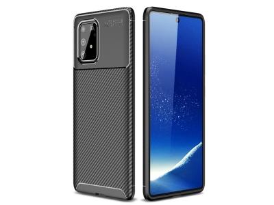 Силиконов Калъф Beetle Series Carbon Fiber - Samsung Galaxy A91/S10 Lite - Black