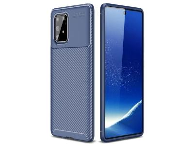 Силиконов Калъф Beetle Series Carbon Fiber - Samsung Galaxy A91/S10 Lite - Blue