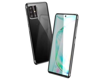 Силиконов калъф с лайсна - CLEAR Samsung Galaxy A51 Black